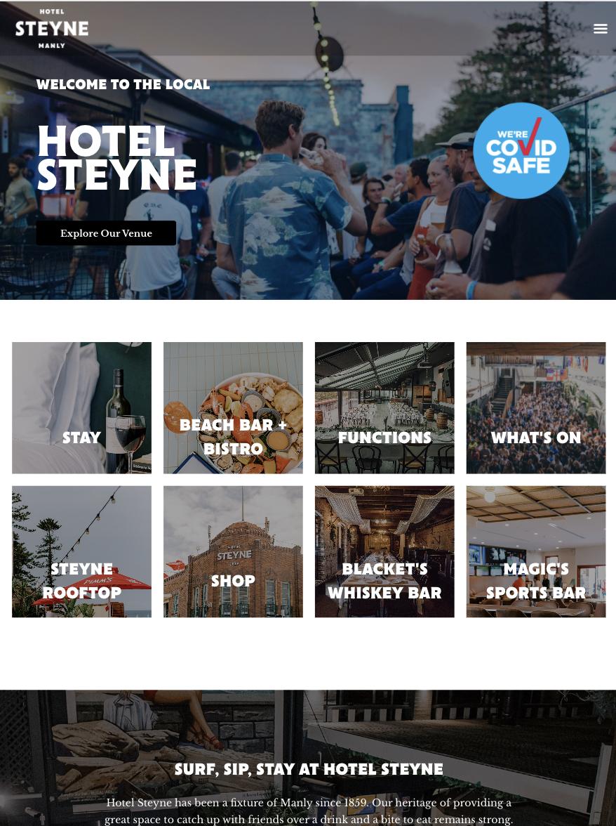 Website design Sydney - Hotel Steyne Manly